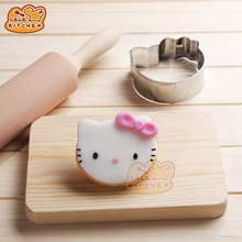 1pcs Cartoon Hello Kitty Patisserie gateau Cookie Cutter Fondant Cake Decorating Tools Molds Metal Pastry Gum Shop Party Biscuit