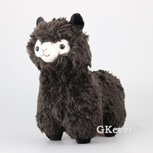"New Arrival Black Arpakasso Plush Toy Cute Alpaca Soft Stuffed Animals 13"" 33 CM Children Gift(China)"