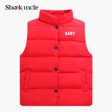 2017 Autumn Winter Boys Girls Vest Jacket light white duck down vest Kid Cotton Waistcoat baby Vest Solid Single Breasted Liner