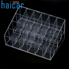 Crazycity Generic 24 Stand Trapezoid Clear Lipstick Lotion Makeup Cosmetic Holder Organizer p7