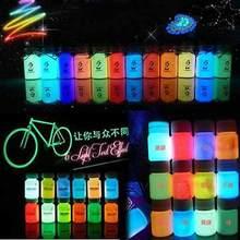10 мл Граффити DIY Neon Glow в Dark Флуоресцентный Световой Краска Яркий Пигмент Блестящие Многофункциональный Чернила Татуировки(China)