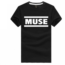 Chinese Size S~3XL MUSE letter t shirt short sleeve t-shirt Space rock tee shirt Experimental rock Matthew James Bellamy tshirt(China)