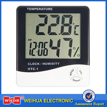 HTC-1 Electronic Temperature Humidity Meter Indoor Room LCD Digital Thermometer Hygrometer Weather Station Alarm Clock(China)