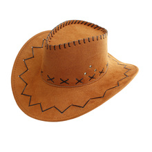 WESTERN Cowboy  suede  Chapeu Straw  Cowboy hat for man sunbonnet spring and autumn hat female summer hat
