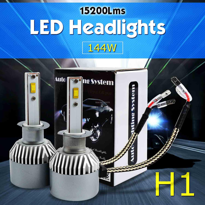 TAITIAN H1 H4/9003/HB2 H7 H11 H9 H8 144W 15200LM 6000K LED Headlights Car Fog Driving Upgraded Globe Bulbs<br><br>Aliexpress