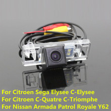CCD Car Rear View Reverse Backup Parking Camera For Citroen Sega Elysee C-Elysee C-Quatre C-Triomphe/Nissan Armada Patrol Royale