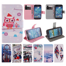 Magnetic Flip Case for Coque Samsung Galaxy S4 mini i9190 PU Leather Stand Wallet Case For Capa Samsung S4 mini Smartphone Bags