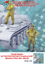 Assembly model kit 1/ 35 Iron curtain Soviet soldiers Summer stand figure Historical WWII Resin Model Unpainted resin kits(China)