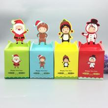 Multi Colors Christmas Candy Packaging Party Cake Dessert Paper Box Box Festival Gift Wrap Cake Dessert Color RadomW5(China)