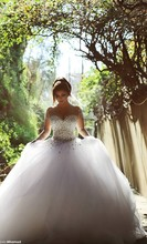 Amazing swarovski wedding Dress crystals stones wedding Gown 2016 ball gown tulle bridal dress alibaba china robe de mariage