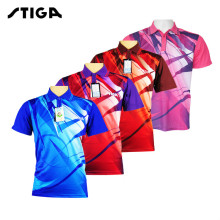 2017 stiga Badminton Table Tennis Shirt  Sport Jerseys Clothing T-shirt Clothes  Polo