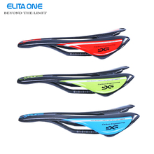 Lightweight full carbon fiber road mountain bike bicycle saddle MTB  full carbon saddle Front seat mat rod/green/blue 3K gloss