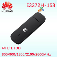 Разблокирована lte usb модем huawei e3372 150 Мбит/с 4G модем e3372 huawei e3372 h-153 с сим-карты 4G lte USB Dongle PK E8372 MF831(China)