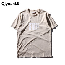 QiyuanLS Summer Mens Casual T Shirts Solid Colors Brand Clothing Man's Wear Short Sleeve Slim Hip Hop T-Shirts Tops Tees(China)
