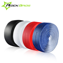 Rockbros Bicycle Handlebar Tape 2017 PU Tour De France Road Bike Bent Tape PRO Anti-slip Anti-sweat Bicycle Parts Accessories(China)