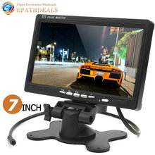 HD 800 x 480 Car Monitor 7 Inch Color TFT LCD Car Rearview Monitor Rear View Reverse Monitor with HDMI + VGA Interface