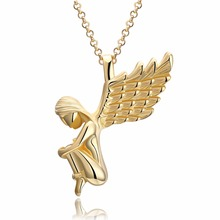 Best-selling Christmas gift angel wings ladies pendant necklace classic retro style no allergies chain night party(China)