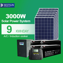 BFS-3000W-LB Solar power system with low price and good quality solar system PV Solar kit manufacturer supply  for apartments