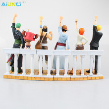 AIUNCI Toys 6pcs/lot One Piece Action Figure The Memory of Alabasta Monkey D Luffy Zoro Nami Sanji Chopper toy For Christmas