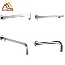 Free Shipping Chrome Conseal Install Shower Fixed Connecting Pipe Wall Mounted Solid Brass Shower Arm