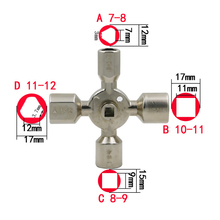 Multifunction 10 in 1 Triangle Electric Control Cabinet Cross Key Wrench For Elevator Door(China)