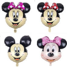 XXPWJ 1pcs The new aluminum balloons Minnie Mickey head balloon decorations wholesale party supplies children's toys