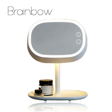 Brainbow 1pc Makeup Mirror Led Mirror Light Rechargable LED Light Lamp Desktop Table Stand Lamp Bed Lamp USB Charger Decor Gifts
