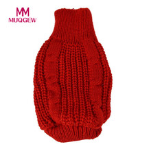 pet dog sweater winter warm christmas clothing small pet Dog Cat Knitted Jumper Sweater Coat Costume snowflake Clothes 2017