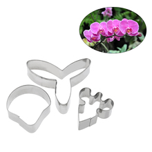 3pcs/set Butterfly Orchid Cookie Cutter Flower Fondant Cake Mold Wedding Decoration Biscuit Cookie Cutter Baking Cake Mould