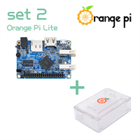 Orange Pi Lite SET2: Pi Lite +ABS Transparent Caes Support Android, Ubuntu, Debian not for Raspberry