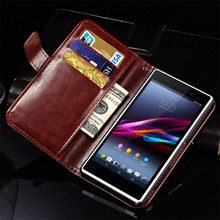 Flip Wallet Case for SONY Xperia Z1 L39H C6903 C6906 Vintage PU Leather Phone Bag Cover Case For Sony Xperia Z1 With Card Slot