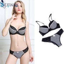 Buy EFINNY Sexy B Cup Bra&Brief Sets Lace Push Underwear Sets Ladies Brassiere Fashion Lingerie Sets