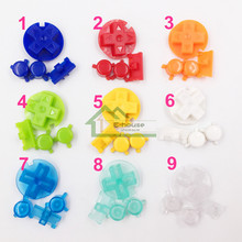 1 set x colorful full buttons set replacement for Gameboy Pocket for GBP Game Console AB buttons ON/ OF buttons
