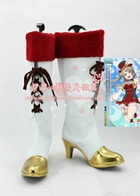 Free Shipping LoveLive! Feb. Valentine's Day Flag Ver. Minami Kotori Cosplay Shoes Japan Anime High Boots Custom-made