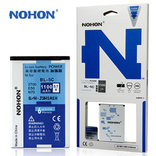 Original NOHON Mobile Phone Battery BL-5C For NOKIA 6630 6670 6680 7610 X2-01 C2-01 C2-06 c2-03 BL 5C 100% Brand New 1100mAh(China)