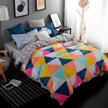 Multicolor Newest Geometric Pattern Polyester cotton Bedding Sets Hot Sales Duvet Cover Set Double twin full Queen King Size bed
