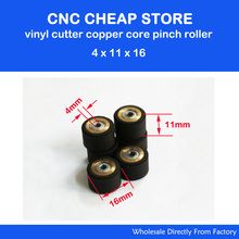 3Pcs Mimaki Roland CAMM Graphtec CE5000 120 Liyu Cutting Plotter Vinyl Cutter Pinch Roller Push Wheel Roll Feed Rubber Copper(China)