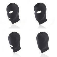 Buy Cosplay Head Mask Fetish Unisex Blindfolded BDSM Bondage Restraint Hood Mask Adult Games Nylon Mask Sex Toys Couples