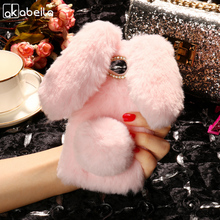 Buy AKABEILA Silicon Case ZTE Blade GF3 T320 Cases Rabbit Hair Bling Diamond Soft TPU Cute Anti-knock Cover for $5.80 in AliExpress store