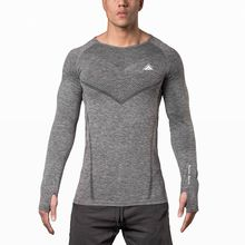 2017 NEW SWEATSHIRT QUICK DRYING SEAMLESS PERFORMANCE LONGSLEEVE FLASH RED DARKGRAY SIZE M-XXL BREATHABLE SHIRT