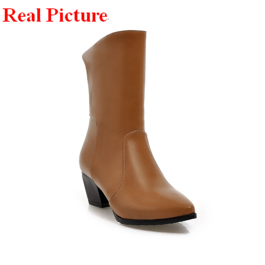2017 retro style European size to 37 38 39 40 41 42 43 pointed toe design PU leather WOMEN boots most countries FREE DELIVERY<br><br>Aliexpress