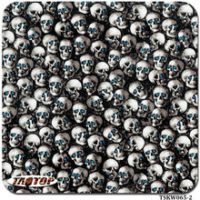 TAOTOP TSKW065-2 0.5m*2m pva blue eyes skull water transfer pattern water transfer printing film