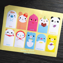 100pcs/lot 10 styles Cute little animals decorative stickers sealing tag baking package cake box decoration