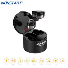 Wonstart TWS Bluetooth Earphones True Wireless Earbuds Mini Stereo Music Headsets IPX6 Truly Wireless Earphone With Touch Key(China)