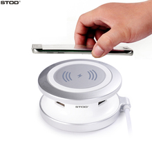 BTOD Qi Wireless Charger 4 USB Port For iPhone Qi For Samsung S6 S7 Edge Nexus 6 Xperia Z4v Droid Turbo Lumia 930 YotaPhone 2