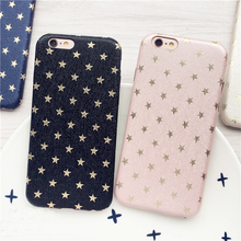 Top selling Phone Case For iphoneSE cases For iPhone 5 55 6 6S plus Ultra Thin Gold Stars Pattern Full Protect Cover Coque Funda