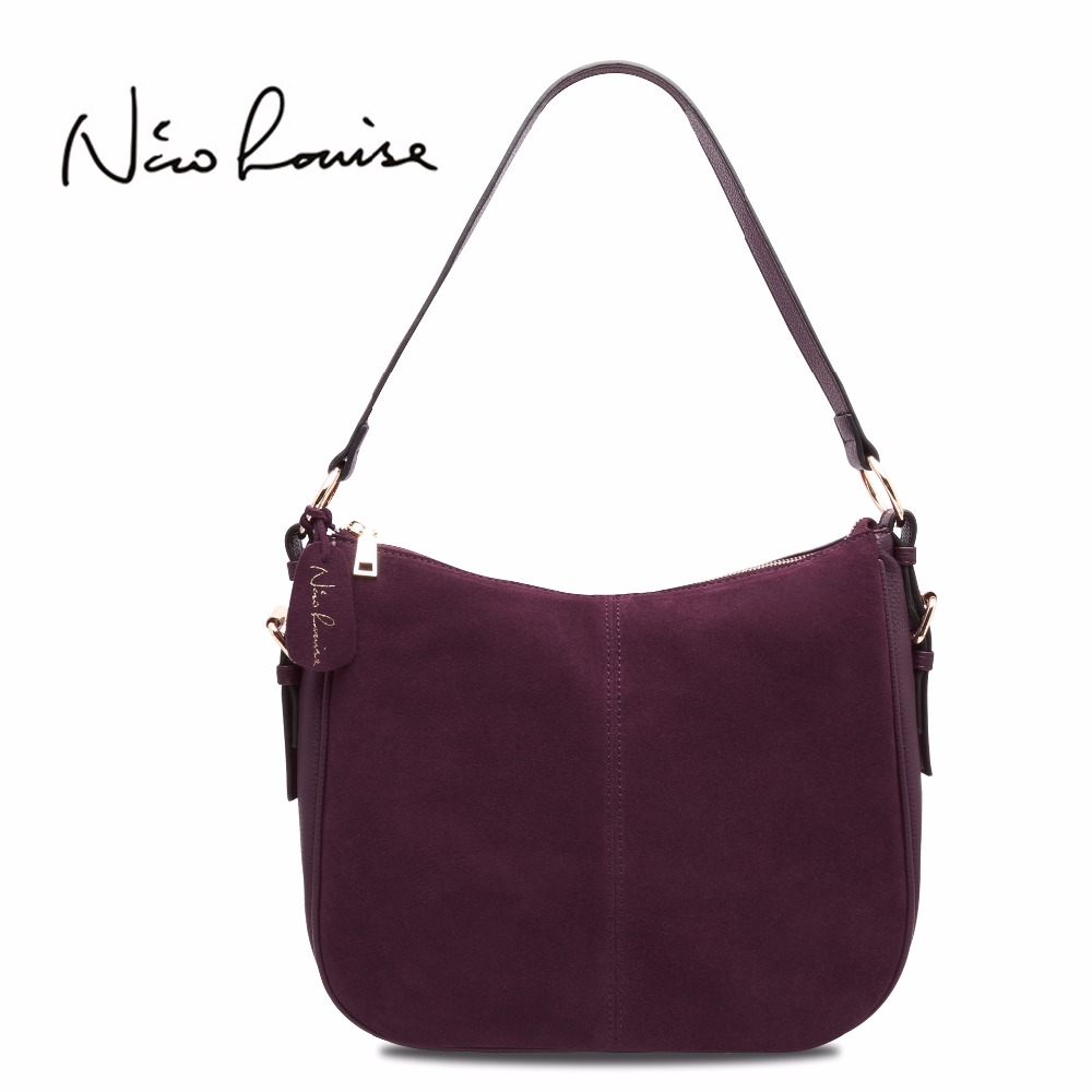 2018 New Women Split Real Suede Leather Shoulder Bag Female Casual Crossbody Handbag Casual Lady Messenger Hobo Top-handle Bags <br>