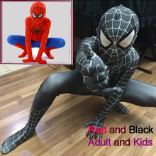 Spider-Man Black Venom Kids Adult Superhero Lycra Spiderman Hero Zentai Halloween Costume With Mask(China)
