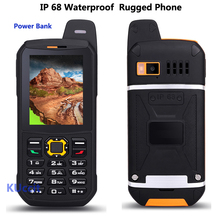 Original Waterproof phone Mobile CDMA Power Bank GSM Senior old man IP68 Rugged shockproof cell phone three sim sonim polski(China)