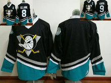 Mens Mighty Ducks Movie Jersey CCM #9 Paul Kariya Ice Hockey Jersey Stitched Purple black Color Hockey Jerseys
